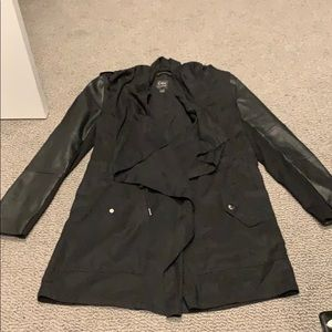 Dex Spring Tencel and Faux Leather Jacket